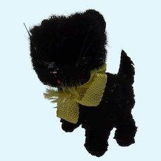 Vintage ARA Austria Wool Plush Black Cat Dollhouse Size