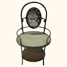Antique German Doll Tin and Wire Beauty Table