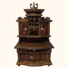 German Historicism Oak Wood Living Room Buffet