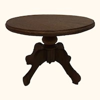 German Historicism Oak Wood Round Table