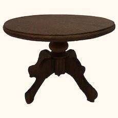 German Historicism Oak Wood Round Table