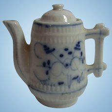 Antique German Doll or Dollhouse Porcelain Coffee Can