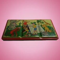 Vintage 1950s German Doll or Child  Tin Box
