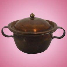 Antique German Dollhouse Biedermeier Copper Cooking Pot 19 Century