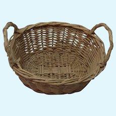 Laundry Wicker Basket Vintage German  Dollhouse