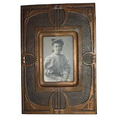 German Tin Art Nouveau Wall Picture Frame