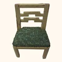 Chair Wood 1940s Vintage German Dollhouse