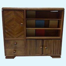 Bookcase Wood Vintage German Dollhouse