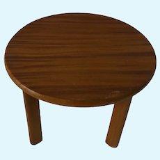 Round Table Wood Vintage German Dollhouse