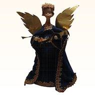 Vintage German Nuremberg Wax Angel Christ Child Tree Topper