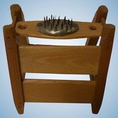 Vintage German Handmade Wood Dollhouse Flax Comb