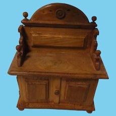 Vintage German Wood Dollhouse Buffet