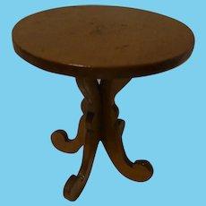Vintage German Wood Round Dollhouse Table