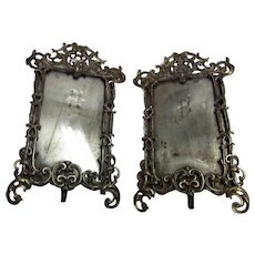 Pair Antique German Standing Picture Frame ca. 1890s
