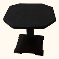 Vintage German Wood Art Deco Dollhouse Table