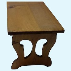 Vintage German Wood Dollhouse Kitchen Table