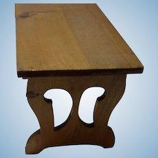 Vintage German Wood Dollhouse Kitchen Table