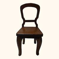 Vintage German Wood Doll or Large Dollhouse Chair
