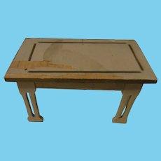 Vintage German Wood Dollhouse Small Table