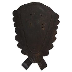 Vintage German Black Forest Carved Wood Trophy Plaque for Taxidermy