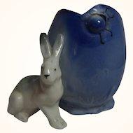 Vintage German Porcelain Easter Bunny with Egg ca.1920's