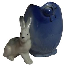 Vintage German Porcelain Easter Bunny with Egg ca.1920's