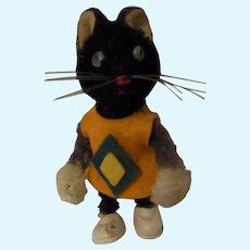 Vintage German Schuco Cat Tin Body