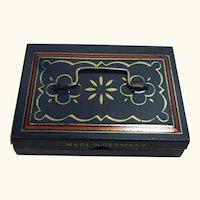 Vintage German Dollhouse Tin Cash Box