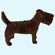 Terrier Dog Wood Erzgebirge Vintage German Dollhouse Size