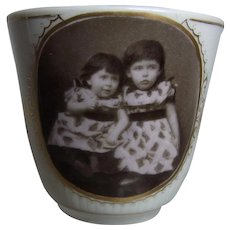 Antique German Cup with Child Motive