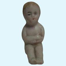 Antique German Bisque Sitting Doll