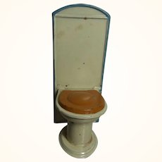 Vintage German Dollhouse Tin Toilet