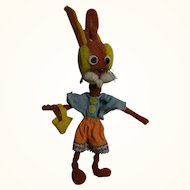Vintage German 1960s Pipe Cleaners Easter Bunny Girl