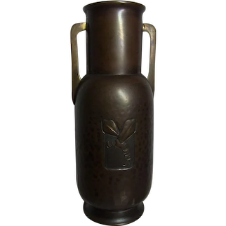 WMF Germany Art Deco Brass Vase Insect