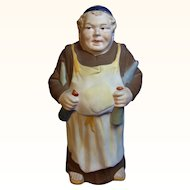 Antique German Porcelain Monk Bottle Cellarer