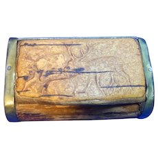Vintage German Wood Snuff Box