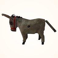 Vintage German Wood Legs Wind-Up Toy Donkey
