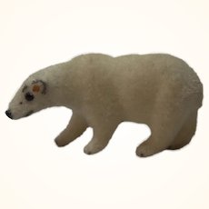 Vintage Wagner Kunstlerschutz Flocked Animals Ice Bear