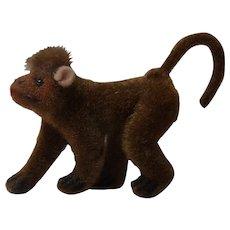 Vintage Wagner Kunstlerschutz Flocked Animals Monkey