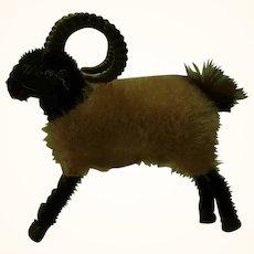 Vintage Wagner Kunstlerschutz Flocked Animals Ram