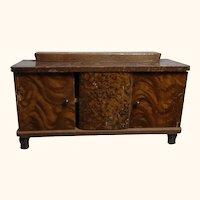 German Art Deco Wood Dollhouse Sideboard