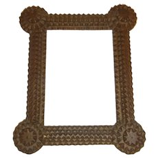 Antique Tramp Folk Art Picture Frame