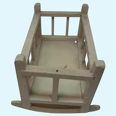 Wood Dollhouse Cradle Child Bed