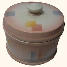 Round Art Deco Ceramic Box Spray Decor Vintage German  ca.1920s