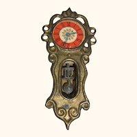 Wall Clock Antique German Dollhouse