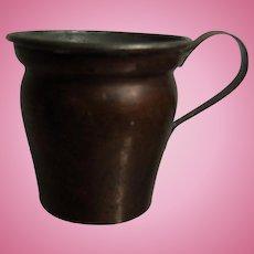 Antique German Dollhouse Biedermeier Copper Pot 19th Century