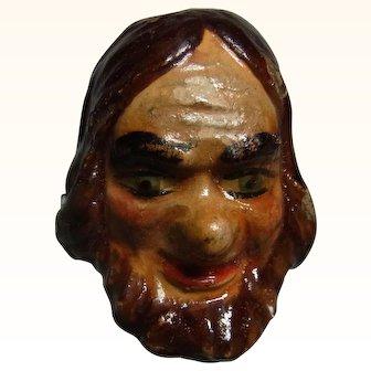 Old Vintage Marionette Puppet Head Plaster Bearded Man