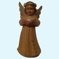Anri Angel Wood Carved Doll Size Vintage Italy