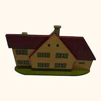 German Folk Art Flat Wood Toy House
