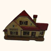 German Folk Art Flat Wood Toy House Chandler